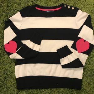 GAP Striped Sweater Navy & White
